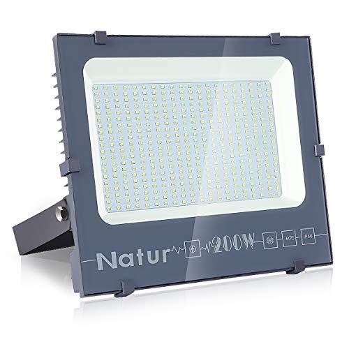 200W Foco LED, bapro Focos Led Exterior, Foco Proyector LED Potente Luce 20000 Lúmenes, IP66 Impermeable Luz de Seguridad...