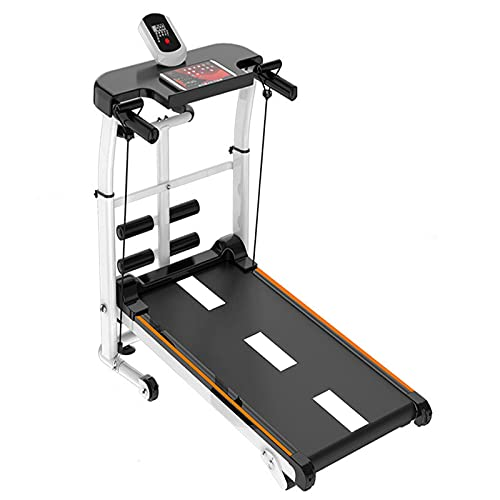 ReallyGO Running Treadmill, 4-in-1 Multifunctional Folding Walking Machine, Shock Running, Supine, T-wisting, Draw Rope Mechanical Treadmill, for Home Office Gym Cardio Fitness, Maximum Load 440lbs