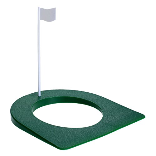 MUXSAM 1Pc Golf Practice Putting Cup Mat with Hole and Flag Plastic for Indoor Outdoor Office Garage Yard Golf Putting Green Regulation Cup Practice Training Aids