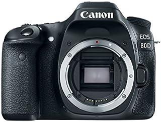 Canon EOS 80D - Cámara réflex digital de 24.2 MP (pantalla táctil TFT de 3 45 puntos AF tipo cruz f/56 Ampliación de zoom - 15x - 10x WiFi) negro