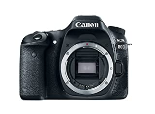 "Canon EOS 80D - Cámara réflex digital de 24.2 MP (pantalla táctil TFT de 3"", 45 puntos AF tipo cruz f/5,6, Ampliación de zoom - 1,5x - 10x, WiFi) negro (B01BYERR6A) 