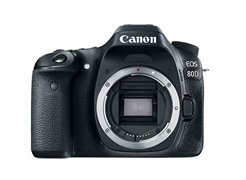 Canon EOS 80D - Cámara réflex digital de 24.2 MP (pantalla táctil TFT de 3', 45 puntos AF tipo cruz f/5,6, Ampliación de zoom - 1,5x - 10x, WiFi) negro