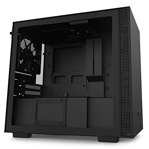 Photo of NZXT H210 – Mini-ITX PC Gaming Case – Front I/O USB Type-C Port – Tempered Glass Side Panel – Cable Management System – Water-Cooling Ready – Radiator Bracket – Steel Construction – Black