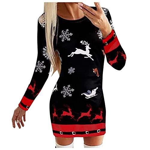 abito donna 6xl BIKETAFUWY Vestito di Natale da donna