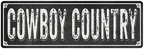 Diuangfoong Cartel de metal con pizarra negra estilo Shabby Chic de COWBOY COUNTRY