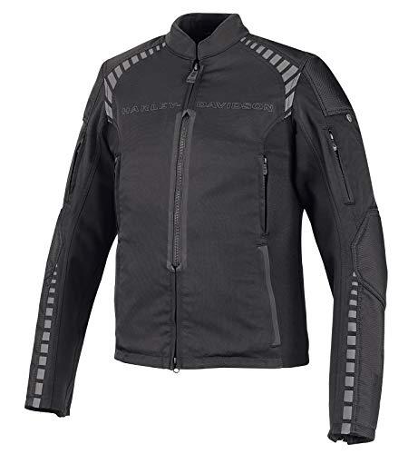 HARLEY-DAVIDSON Herren Motorradjacke Biker Jacke Schutzjacke Outdoor Funktionsjacke für Männer Textil Stretch Slim Fit, M