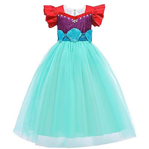 OBEEII Vestido de Fiesta Disfraz Sirena Niña Fiesta Boda Princesa Cosplay Vestido...