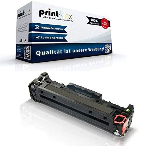 Print-Klex Kompatible Tonerkartusche für HP Color LaserJet CM2320EI MFP Color LaserJet CM2320FXI MFP Color LaserJet CM2320N MFP CC530 A Black Schwarz