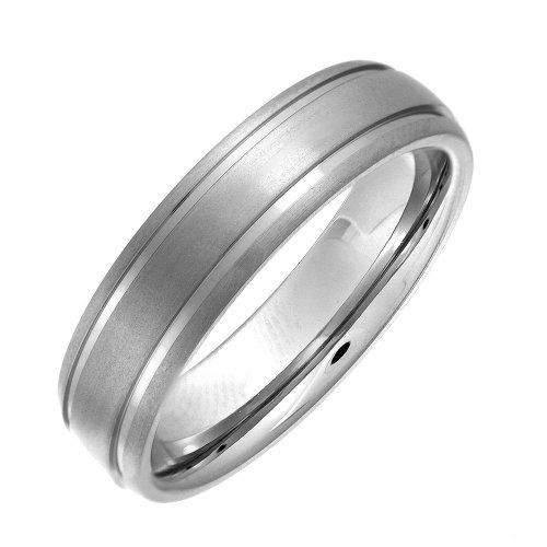 Theia Ring Cobalt Court Shape Matt Doppelt gerillt 6mm - Größe 56 (17.8)