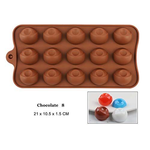 N /A Silikonform Schokoladenform Kuchen Dekorationswerkzeuge Kastanie BackformNüsse Eiswürfelform Baby Liebesmutter Antihaft