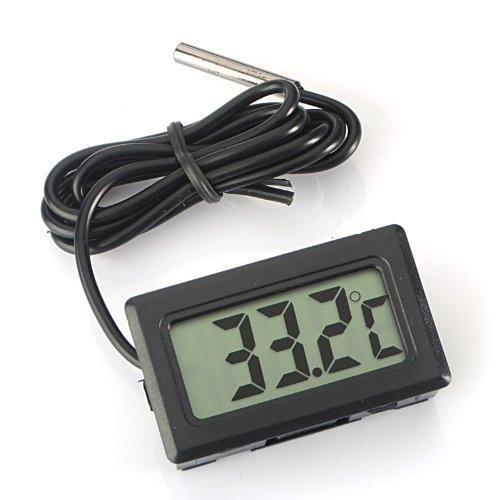 Wingoneer Digitale thermometer met lcd-display, temperatuursensor, tester voor koelkast, freezer, aquarium