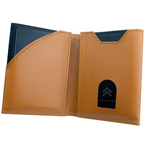 Skullino Slim Wallet mit Münzfach Leder, Geldbeutel für Herren und Damen klein, Karten Portemonnaie mit RFID Schutz bis 10 Karten, dünne Geldbörse, Miniwallet, Brieftasche, Portemonnaie