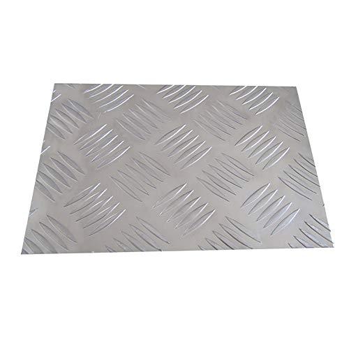 SOFIALXC Chapa De Aluminio Metálica Estriada 4 Mm De Espesor-200x200mm 1pc