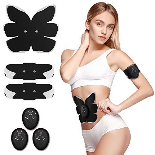 Antmona ABS Stimulator,Ab Machine,Abdominal Toning Belt Workout Portable Ab Stimulator Home Office Fitness Workout Equipment for Abdomen/Arm/Leg