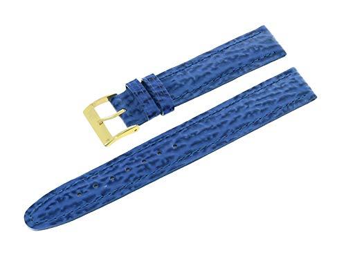 Morellato Cinturino per orologio da 16 mm blu in pelle di squalo con fibbia ad ardiglione in acciaio inox A01U0235037065CR16