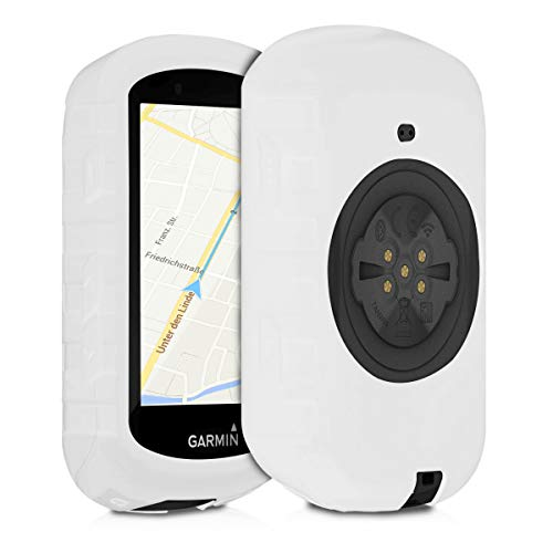 kwmobile Case Compatible with Garmin Edge 530 - Soft Silicone Bike GPS Navigation System Protective Cover - White