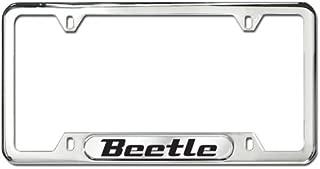 Genuine OEM Volkswagen Beetle Polished Stainless Steel License Plate Frame