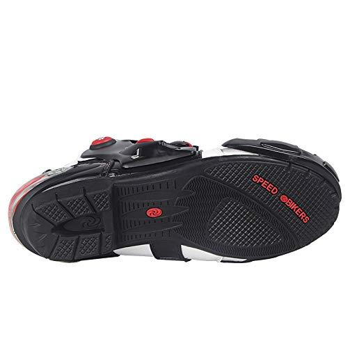 Romsion Accessories antideslizantes Botas de motocross para hombre suaves impermeables