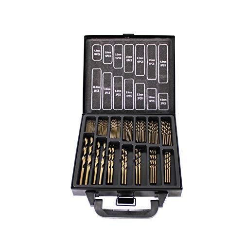HFS (R) Juego de 99 brocas de cobalto – Drill Tough Materials Inc. aleación de titanio, acero inoxidable, ladrillo