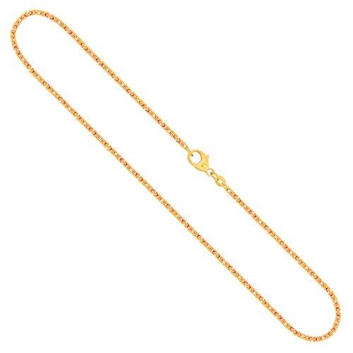 Goldkette, Königskette Gelbgold 585/14 K, Länge 42 cm, Breite 1.8 mm, Gewicht ca. 9.9 g, NEU