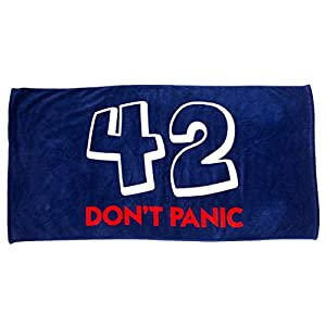 getDigital Bath Towel 42 Don't Panic - Large Beach Towel for The Hitchhiker's Guide to the Galaxy Fans - 55 x 28 inch, 100% Cotton, certified with German Textile Standard