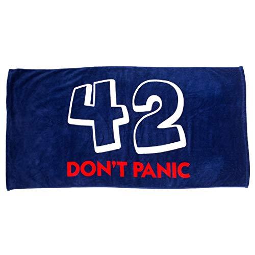 getDigital 42 Badehandtuch - Saugstarkes Handtuch mit berühmter Antwort aus per Anhalter durch die Galaxis - Hochwertiges 140x70cm Saunatuch - 100% Baumwolle
