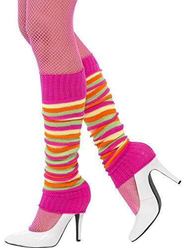 Luxuspiraten - Kostüm Accessoires Zubehör Damen Beinstulpen Leg Warmer Stulpen im 80er Jahre Fitness Neon Style, perfekt für Karneval, Fasching und Fastnacht, Pink