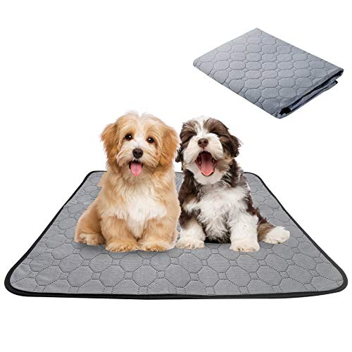 Reusable Pet Pee Pad, Super Absorbent Pet Mat Waterproof Cage Liners Training Pads Washable Leakproof Non-Slip Bottom Puppy Whelping Mat for Guinea Pig Dogs Cats Rabbits or Other Small Animals
