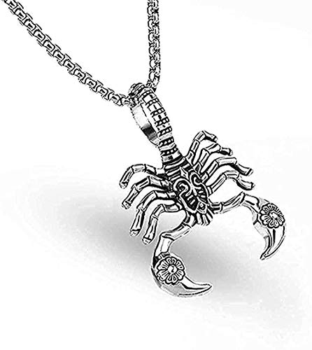 ZGYFJCH Co.,ltd Collar de Moda 316L Cadena de Acero Inoxidable escorpión Rey Colgante Collar para Hombres Hombre Colgante Collar niñas niños Regalo