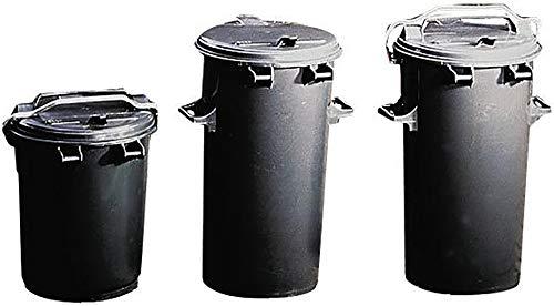 System-Mülltonne aus Kunststoff - Volumen 35 l - anthrazit - Abfallbehälter Abfallbehälter für außen Abfallsammler Abfalltonne Abfalltonnen Großmüllbehälter aus Kunststoff Müllbehälter Mülleimer Müllkübel Müllsammler Mülltonne Mülltonnen