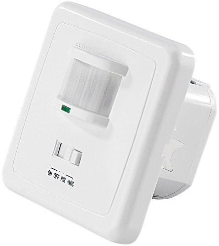 revolt Akustikschalter: Automatischer Lichtschalter mit PIR- und Akustik-Sensor (Bewegungsmelder innen Schalter)