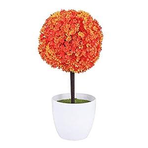LIOOBO 4.72 Simulated Snowball Flower – Artificial Plants Ball – False Plastic Flower Ball – Bonsai Decorative (Green)