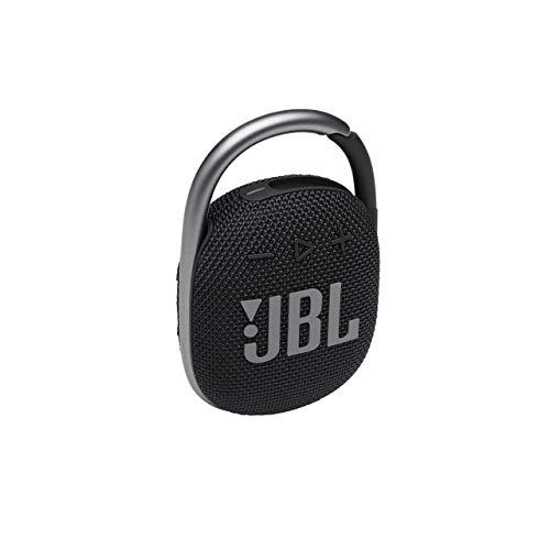 JBL Clip 4 Altavoz inalámbrico con Bluetooth, resistente al agua (IP67) y al polvo, con estilo llamativo y diseño ultraportátil, 10h de música continua, negro