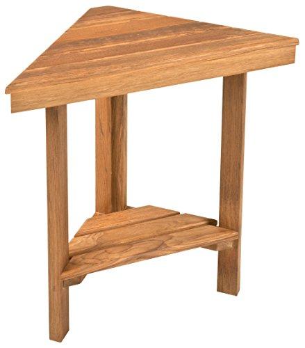 Plantation Teak Mini Corner Bench | Corner Shower Shaving Foot Rest