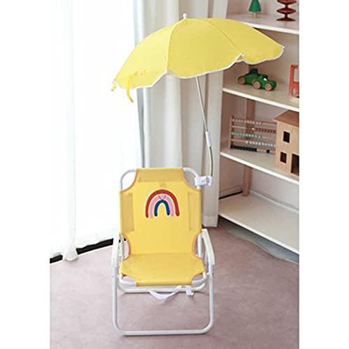 DYCLE Tumbonas para niños, Silla Plegable de jardín al Aire Libre con sombrilla, para niños de 0 a 8 años