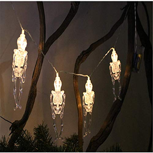 AOIWE Luces de Cadena Calabaza de Halloween decoración Fantasma Luces LED Luces de la Secuencia del jardín al Aire Libre (Color : Skeleton Frame12, Size : 6 Meters 40 Lights)