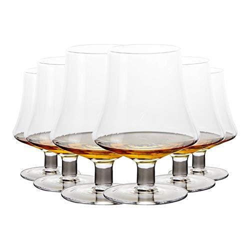 Copa Corta De Forma Creativa Juego De Copa De Vino con Diseño De Cuerpo De Una Pieza Copa De Whisky De Cristal Sin Plomo Juego De Copa De Vino De 500 Ml (Color : Clear, Size : 8 * 14.5cm*6)