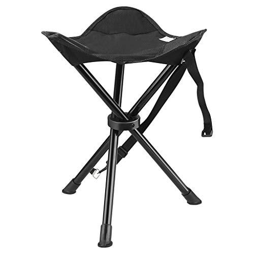 LYZZDY Yxsd draagbare statief kruk klapstoel met draagtas voor outdoor camping wandelen jacht wandelen vissen reis zwart