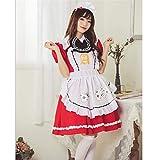 HLIAN Sirvienta Disfraces Cosplay Traje japonés de animación Cos Juego de Vestido de Lujo del Partido de Caliente Atractiva (Color : Rojo, Size : One Size)