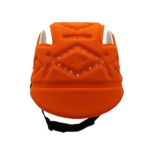 JUEJIDP Baby Soft Helm, Säuglingskopfschutz atmungsaktiv Kopfschutz Einstellbare Schutzkappe for Kleinkinder Lernen Laufen (Color : Orange red)