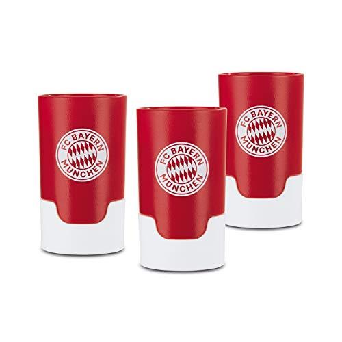 Taste Hero Flaschenaufsatz für Bier 3 Stück Fan-Edition FC Bayern München | Macht jede Bierflasche zum Zapfhahn | Für Glas- und PET-Flaschen, spülmaschinengeeignet
