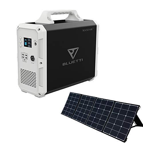 BLUETTI 120W ソーラーパネル 1500WH 大容量 ポータブル電源 太陽光発電 節電 車中泊 非常用停電 災害時 アウトドア キャンプ 熱中症対策 電動工具 テレワーク 扇風機/冷蔵庫/エアコンなどの夏用家電に対応可