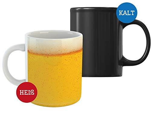 Zauber Kaffee-Tasse Mit Lustigem Bier Motiv Man Wird Ja Noch Träumen Dürfen Magic Mug Geschenkidee für Freunde Familie und Kollegen