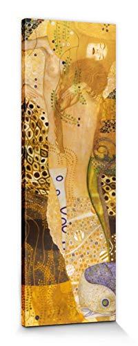 1art1 Gustav Klimt - Serpientes De Agua, 1904–1907 Cuadro, Lienzo Montado sobre Bastidor (120 x 40cm)