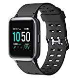 YAMAY Smartwatch,Fitness Armband Uhr Voller Touch Screen Fitness Uhr IP68 Wasserdicht Fitness Tracker Sportuhr mit Schrittzähler Pulsuhren Stoppuhr für Damen Herren Smart Watch für iOS...