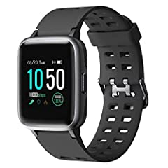 YAMAY Montre connectée,Fitness Montre Bracelet Plein Écran tactile Écran fitness IP68 Imperméable Tracker fitness montre de sport avec podomètre Chronomètre montres pour hommes Smart Watch pour iOS Téléphone Android