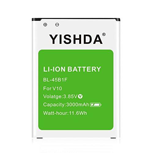 YISHDA - Batería de repuesto para LG V10, 3000 mAh, batería de repuesto para LG V10 BL-45B1F para LG Stylo 2 Plus H960A H900 H901 VS990 LS992 MS550 K550 LS775 LTE LG BL-45B1F