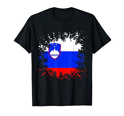Slowenien Flagge Slowenische Fahne Fußball Fan T-Shirt