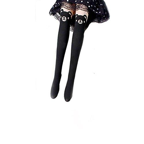 Niedlicher Teddybär-Muster Leggings Strumpfhosen Socken pantyhose