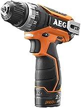 AEG BS 12C2 Li-202C drill Negro, Naranja 1,1 kg - Taladro eléctrico (1 cm, 2 cm, 34 Nm, 350 RPM, 1500 RPM, Batería)